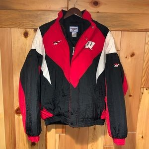 Reebok Jackets & Coats - Vintage 90's Reebok WISCONSIN BADGERS Jacket L